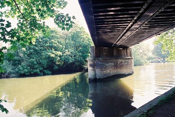 Under the railway bridge, Home Park